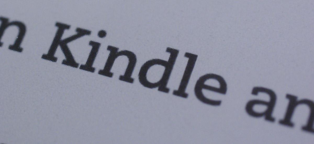 """Makroaufnahme von dem Wort """"Kindle"""""""