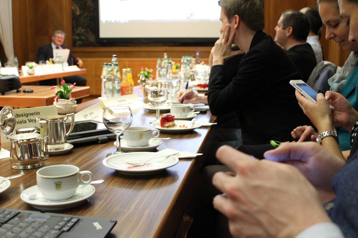 Twitternde Teilnehmer