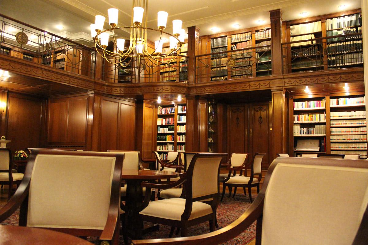 Die Bibliothek der Villa Reitzenstein