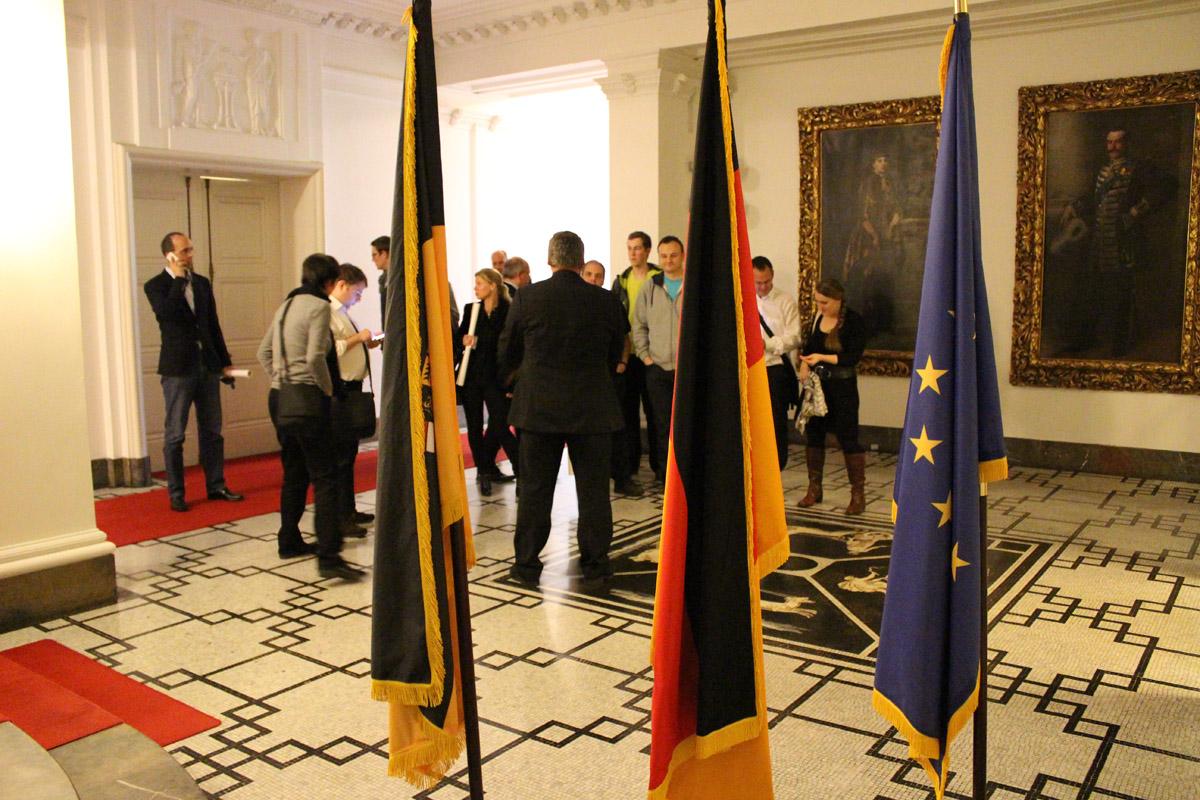 Die Lobby in der Villa Reitzenstein