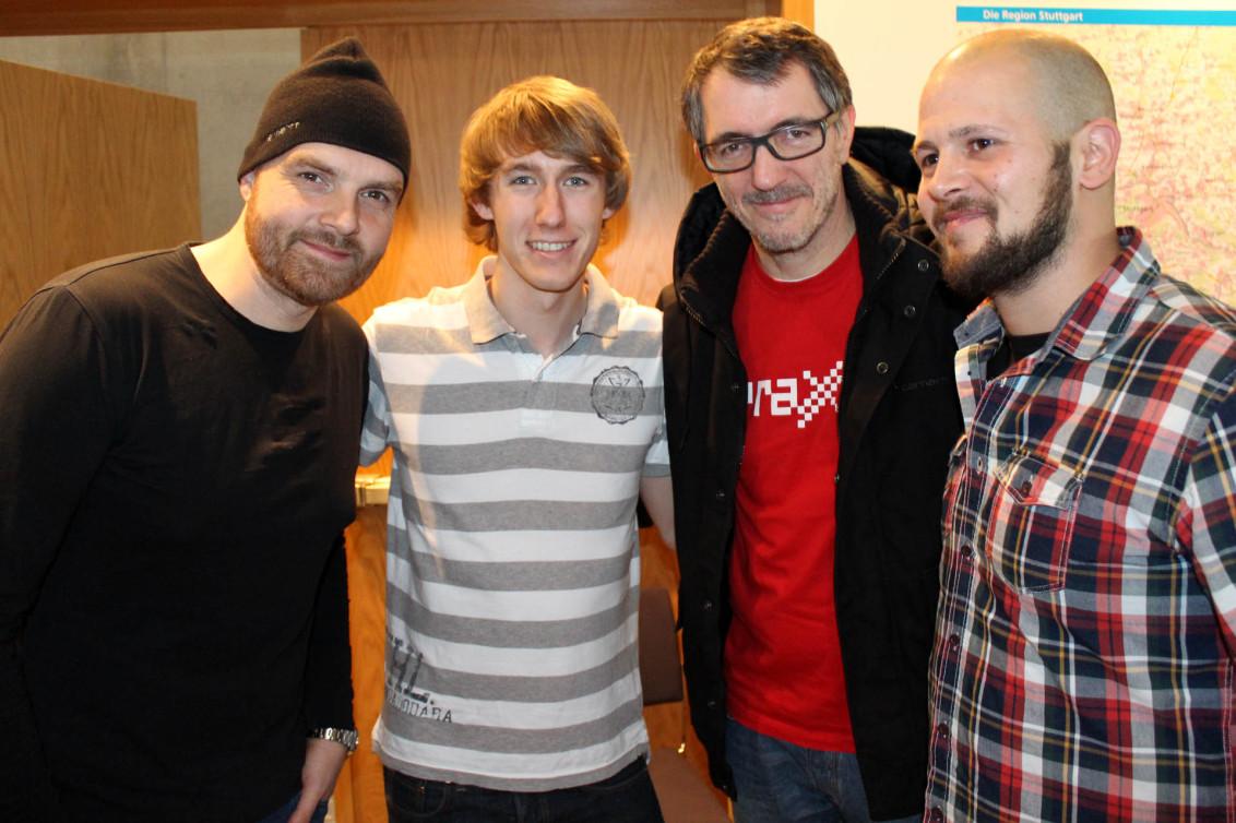 Martin Eyerer (DJ, Produzent & Labelbetreiber Kling Klong Records), Tilo Hensel, Dr. Motte (DJ, Gründer der Loveparade), Heiko Seifert (Faze TV)