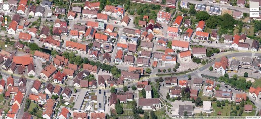 Die Gemeinde Aidlingen von oben