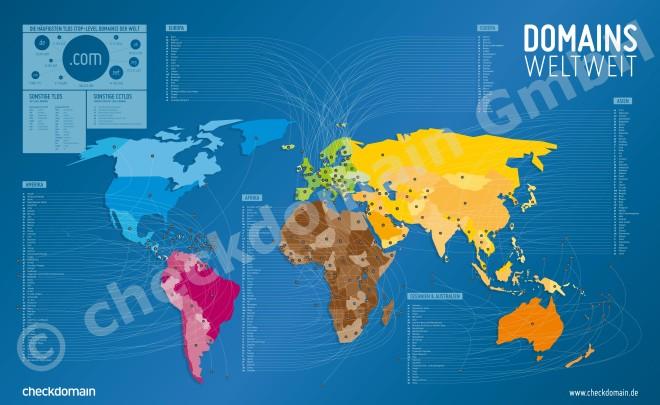 Die Dunkle Variante: Domain-Weltkarte