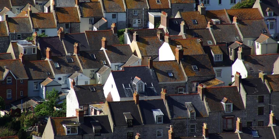 Häuser auf der Isle of Portland