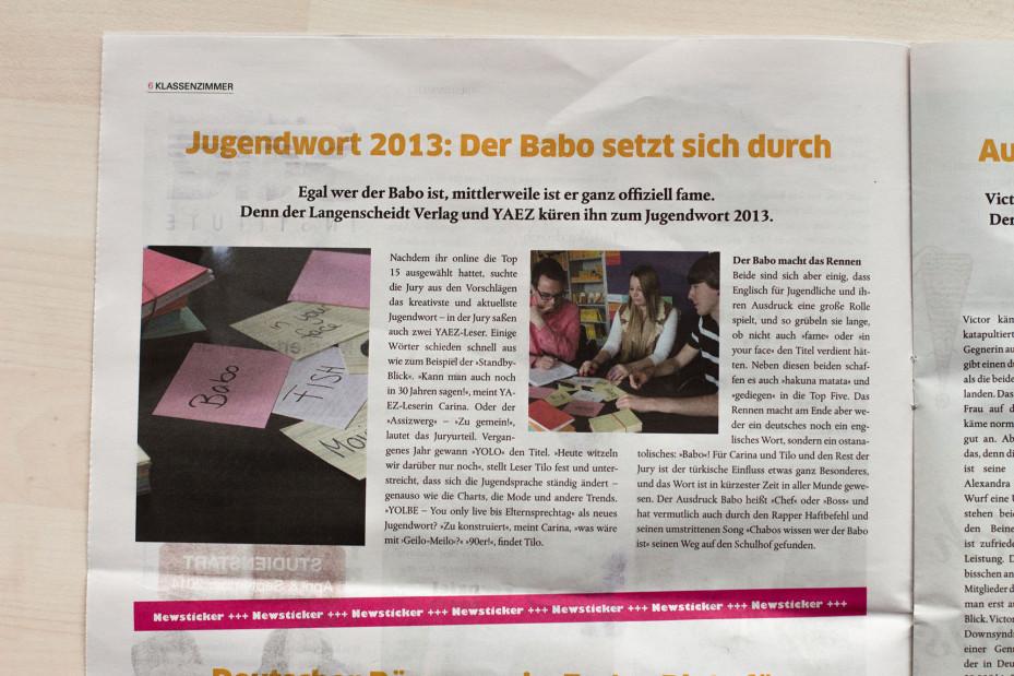 YAEZ: Jugendwort 2013