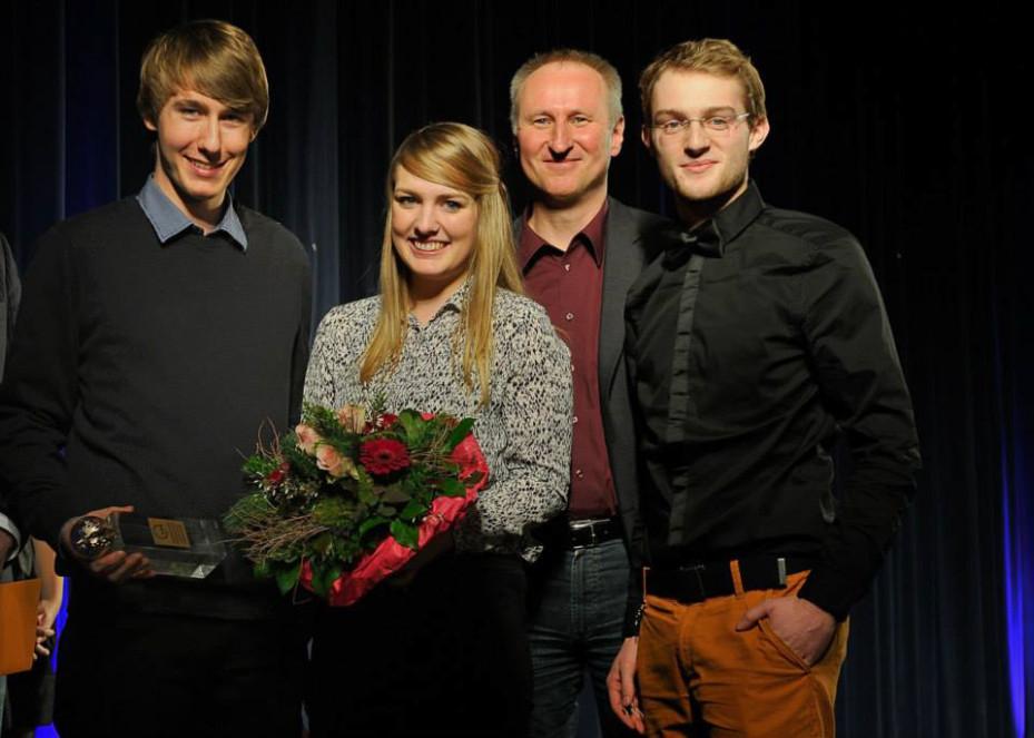 Gruppenfoto: Tilo Hensel, Sarah Kunst, Horst Stammler, Jonathan Rieder (Foto: Frank von zur Gathen)