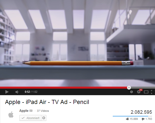 Quelle: Screenshot vom Apple-YouTube-Kanal