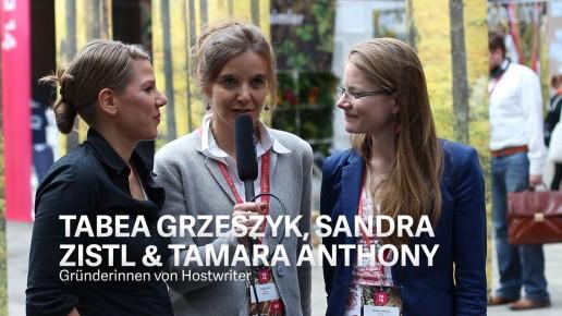 Tabea Grzeszyk, Sandra Zistl & Tamara Anthony, Gründerinnen von Hostwriter