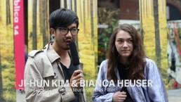 Ji-Hun Kim & Bianca Heuser, Chefredakteur und Redakteurin von Das Filter