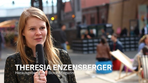 Theresia Enzensberger, Herausgeberin des Block-Magazins